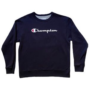 Champion Navy Blue Crew Neck Classic Sweater